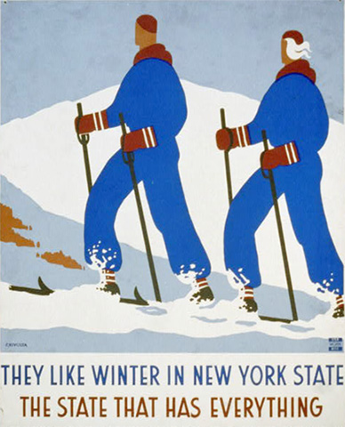 They like winter in New York state.