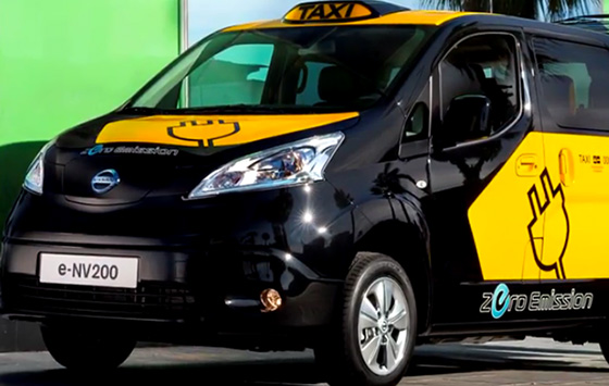 Nissan All Electric Taxi