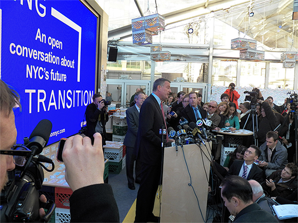 Mayor-elect Bill deBlasio