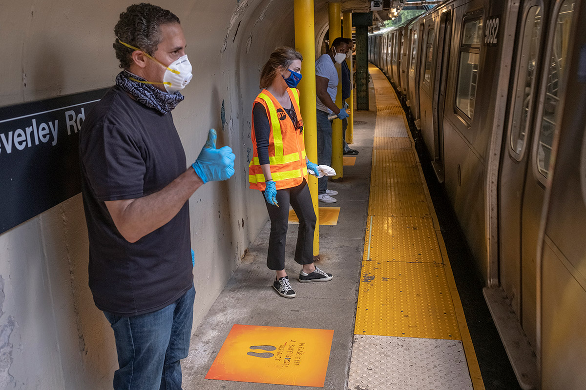 MTA New York City Transit staff on Sunday, June 7 prepared for the the subway's safe return as New York City begins Phase 1 reopening on Monday, June 8, 2020