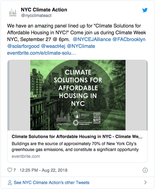 Climate Solutions for Affordable Housing In NYC
